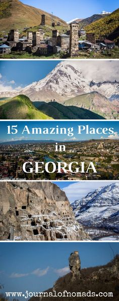 Georgia is a mighty destination! Here are 15 amazing places you should definitely visit in this small country at the intersection of Europe and Asia. #TravelDestinationsUsaGeorgia