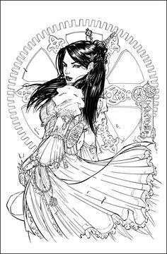 Steampunk Inks by *devgear on deviantART