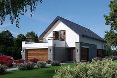 Projekt domu Fiodor G2 133,7 m2 - koszt budowy - EXTRADOM Home Fashion, Tatoos, Shed, Villa, Exterior, Outdoor Structures, House Design, Contemporary, House Styles