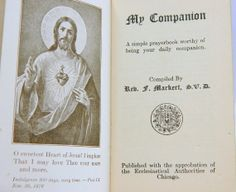 My Companion Vintage Catholic Prayer Book by QueeniesCollectibles, $19.99