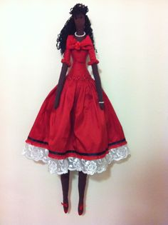 Tilda doll Lady In Red ♡