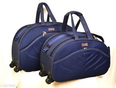 Checkout this latest Duffel Bags Product Name: *Trendy Men's Combo Blue Polyester Duffel Bags* Product Name: Trendy Men's Combo Blue Polyester Duffel Bags Material: Polyester Type: Travel No. Of Compartments: 1 Product Height: 40 Cm Product Length: 60 Cm Product Width: 20 Cm Size: Onesize Water Resistant: No Print Or Pattern Type: Brand Logo Multipack: 2 Country of Origin: India Easy Returns Available In Case Of Any Issue   Catalog Rating: ★4.2 (1410)  Catalog Name: Stylish Men Duffel Bags CatalogID_4124807 C65-SC2142 Code: 408-19910230-2232