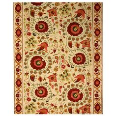 Suzani Rendition Hand-tufted Wool Rug (7'6 x 9'6) 432$$