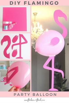 Time to Flamingle with this DIY Flamingo Party Balloon - free printable template. - My Pins - Time to Flamingle with this DIY Flamingo Party Balloon – free printable template ready to downloa - Flamingo Craft, Pink Flamingo Party, Flamingo Baby Shower, Flamingo Birthday, Luau Birthday, Birthday Parties, Flamingo Decor, Pink Flamingos, Aloha Party