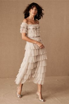 Check out Needle & Thread Neuve Dress from BHLDN hochzeitsgast flieder Needle & Thread Neuve Dress Wedding Gowns With Sleeves, Long Sleeve Wedding, Fall Wedding Dresses, Cheap Wedding Dress, Bridesmaid Dresses, Autumn Wedding, Needle And Thread Dresses, Elopement Dress, Lilac Dress