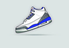 Digital Art - AIR Jordan Retro 3 OG