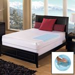 Home Classics 3-in. Gel Memory Foam Reversible Mattress Topper