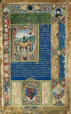 Matthias's illegitimate son, John Corvinus triumphed in Vienna in 1485 Medieval Books, Medieval Manuscript, Medieval Art, Renaissance Art, Illuminated Letters, Illuminated Manuscript, Matthias Corvinus, Illumination Art, Book Of Kells