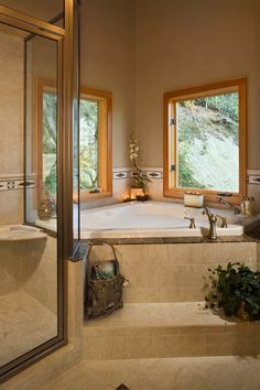 41 essential things for corner bathtub decor master 58 - myhomestyleguide. Corner Jacuzzi Tub, Jacuzzi Bathtub, Bathtub Decor, Corner Tub, Bathtubs, Bathtub Remodel, Master Bath Remodel, Master Bathroom, Bathroom Tubs