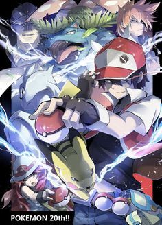 Shared by ラクーザ. Find images and videos about red, pokemon and pikachu on We Heart It - the app to get lost in what you love. Pokemon Gif, Fotos Do Pokemon, Pokemon Firered, Pokemon Manga, Pokemon Comics, Pokemon Fan Art, Pokemon Games, Cute Pokemon, Pikachu