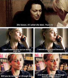 Piper learning to stay <3 - Alex Vause - Piper Vause - Vauseman - Orange is the new black - OITNB