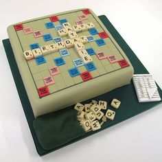 Scrabble Cake.  Oh Jane, you have to do this some time!!@Jane Izard Izard Izard Izard Izard Schmidt