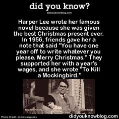 Nelle Harper Lee (April 1926 – February was an American novelist widely known for To Kill a Mockingbird, published in Immediately successful, it won the 1961 Pulitzer Prize and has become a classic of modern American literature. Wtf Fun Facts, Random Facts, Cool Facts, Uber Facts, Random Stuff, Stupid Stuff, Crazy Facts, Mbti, A Silent Voice