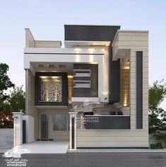 6 Exterior House Designs For Small House Narrow House Designs, Modern Small House Design, Modern Exterior House Designs, Classic House Design, Modern House Facades, Modern Bungalow House, Minimalist House Design, Cool House Designs, 2 Storey House Design