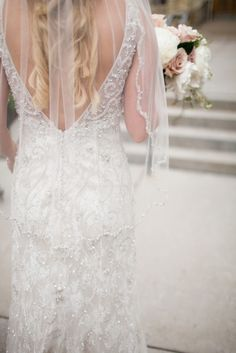Glamorous beaded gown: http://www.stylemepretty.com/minnesota-weddings/minneapolis/2015/03/23/elegant-summer-lakeside-wedding/ | Photography: Leah Fontaine - http://leahfontaine.com/