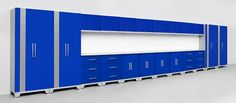NewAge Performance 24 Piece Cabinet Set - Blue #GarageCabinetsOnline