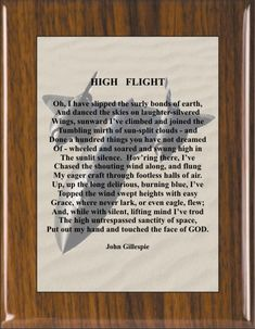 1522 High Flight by MyWayCrafts on Etsy
