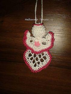 hackovanie-Terezka / anjelik bielo-ruzovy Crochet Earrings, Jewelry, Jewlery, Jewerly, Schmuck, Jewels, Jewelery, Fine Jewelry, Jewel
