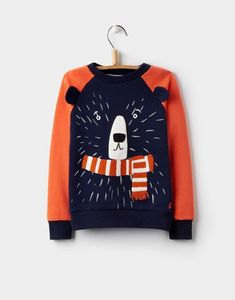 Baby Toddler /& Adult Sizes Pullover Fleece Hooded Long Sleeve Sweatshirt with Ears and Tail in Navy Blue and Brown Geo Bear Cub Hoodie