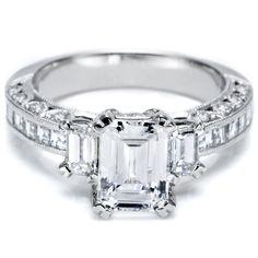 Tacori News » Tacori Emerald Cut Engagement Ring