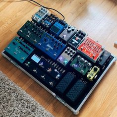 with ・・・ No matter how certain you are of your setup- things will ALWAYS change. A good board is a… Guitar Pedal Board, Diy Guitar Pedal, Guitar Rig, Music Guitar, Guitar Effects Pedals, Guitar Pedals, Music Mixer, Song Inspiration, Types Of Guitar