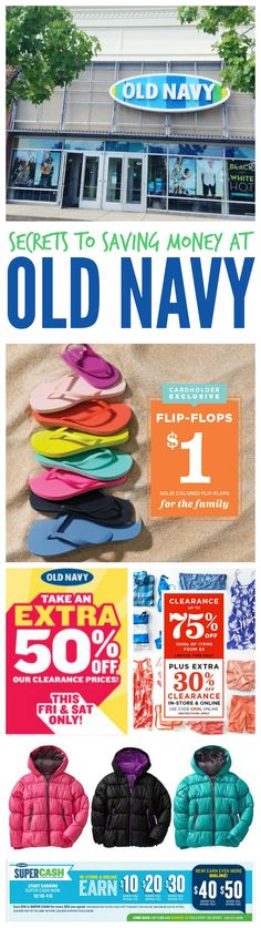 Top Secrets for Saving Money at Old Navy. Shopping Hacks, Tips, and Tricks that will save you the most!