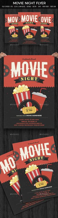 New Years Eve Free PSD Flyer Template - http\/\/freepsdflyer - movie night flyer template