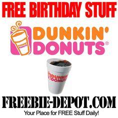 BIRTHDAY FREEBIE – Dunkin' Donuts - FREE BDay Drink