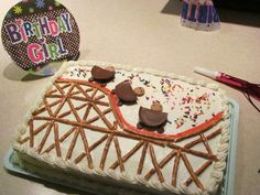 Roller coaster cake - easy, yet so cute!
