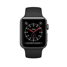 Get Apple Watch Series 3 (GPS), Space Gray Aluminum Case with Black Sport Band - (Refurbished) by best price! Fast shipping for your Apple Watch Series 3 (GPS), Space Gray Aluminum Case with Black Sport Band - (Refurbished). Apple Iphone 6, Ios Apple, Iphone 5s, Apple Tv, Apple Watch 42mm, Apple Watch Series 3, Buy Apple Watch, Smart Watch Apple, Apple Smartwatch