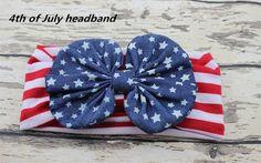 Infant headband knotted headband Baby headband 4th of July headband with hair bow,American Flag Fashion Hair Accessories5pcs/lot