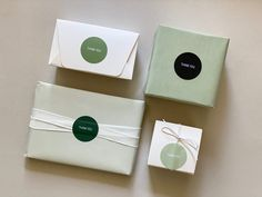 "Beautiful ""Thank you"" stickers for small businesses. Can be personalized. This set comes in 4 beautiful colors - light moss green, middle moss green, dark forest green and black. Text can be personalized. Visit Etsy shop for more details."