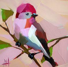 Rose Finch no. 17 Pintura   moulton angela de pintura al día