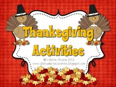 All Students Can Shine: Thanksgiving Activities
