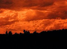 Redscale photography 35mm film clouds at Fruitlands Museum in Harvard MA by Lisa Shea