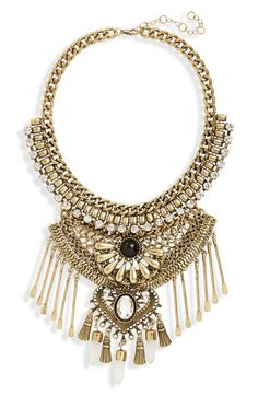 Leith Stone & Spoon Charm Statement Necklace
