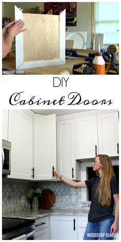 How to build your own DIY cabinet doors for kitchen, vanity, laundry cabinets How to Make DIY Cabinet Doors & Fancy Router Bits} Source. The post How to Make DIY Cabinet Doors & Fancy Router Bits} appeared first on Mack Makeovers. Building Cabinet Doors, Diy Cabinet Doors, Building Kitchen Cabinets, Laundry Cabinets, Diy Kitchen Cabinets, Built In Cabinets, Kitchen Vanity, Kitchen Island, Kitchen Counters
