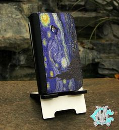 FREE SHIPPING! Doctor Who Tardis Police Call Box Van Gogh Painting - iPhone 4/4s - 5/5s - 5c - 6 Wallet Folio Case