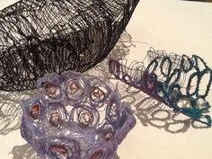 Dissolvable experiments Textile Art, Fabrics, Textiles, Stitch, Ideas, Tejidos, Full Stop, Cloths, Thoughts