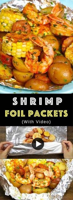 The Best Shrimp Boil with corn, potatoes and sausage - easily made on the grill or oven in foil packets. Perfect for a party! The Best Shrimp Boil with corn, potatoes and sausage - easily made on the grill or oven in foil packets. Perfect for a party! Shrimp Foil Packets Oven, Grilled Foil Packets, Foil Packet Dinners, Foil Pack Meals, Foil Dinners, Potato Foil Packets, Foil Packet Potatoes Grill, Veggie Foil Packets For The Oven, Foil Packet Recipes