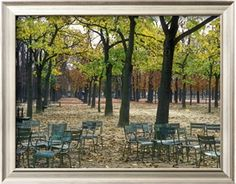 Trees and Empty Chairs in Autumn in the Luxembourg Gardens, Paris Photographic Print by Stephen Sharnoff at Art.com