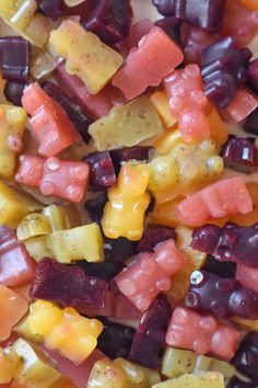 Get your daily serving of fruit in a new form with these healthy gummy fruit snacks that are actually made from agar and not gelatin.