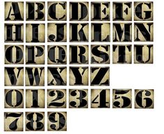 Grunge Steampunk Alphabet Letters Prontable