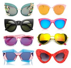 """""""TSG PICKS SUNNIES"""" by thstylegalaxy on Polyvore featuring Dolce&Gabbana, Wildfox, Le Specs, House of Holland, Revo, Jeremy Scott and vintage"""