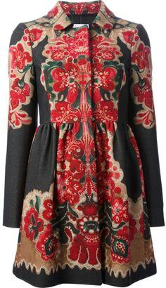 Red Valentino imprimé floral Manteau en multicolore (multicolore) - Lyst