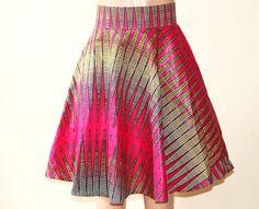 OBAA Flare jupe, jupe évasée, jupe africaine, jupe patineuse Ankara, Ankara Flare jupe afrocentriques, Midi africaine jupe jupe imprimés africains,