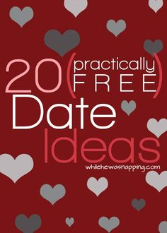 (Practically Free) Date Night Ideas Practically Free Date Ideas. Dating doesn't have to break the bank and it can still be fun!Practically Free Date Ideas. Dating doesn't have to break the bank and it can still be fun! Year Of Dates, Romantic Dates, Romantic Gifts, Romantic Ideas, Romantic Things, Romantic Dinners, Good Dates, First Dates, Free Date Ideas