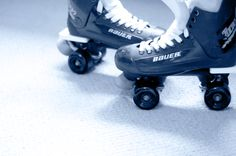 Bauer Turbos. These are my Bauers, I go quad skating as much as I can. It's the only exercise I actually get excited about.