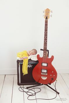 newborn photography  #guitar