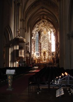 Interior of the Virgin Mary Cathedral of Vienna. This one faces the Hofburg Palace.